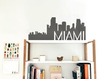 Miami  Skyline Silhouette Decal