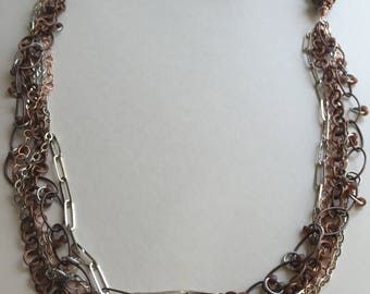 Multi-strand Chain Necklace - Beach Girls Beads and Bling