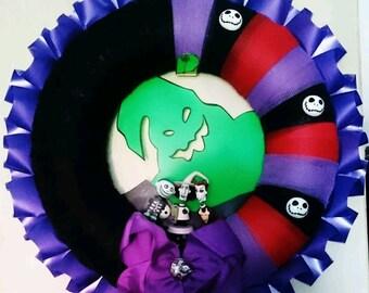 Nightmare before Christmas lock, shock wreath