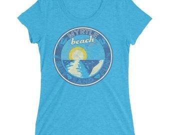 Womens' Myrtle Beach South Carolina Faded Gift Souvenir Shirt