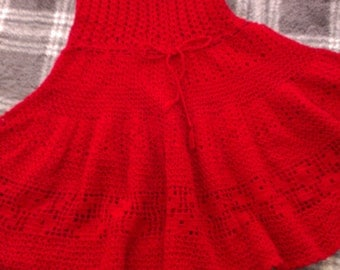 Vintage Ruby Knit Tunic. BOLD. Very Pretty.