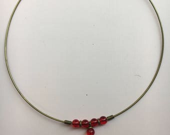 Deepest Red Choker-Necklace