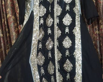 Black Pakistani Gorgeous Gown
