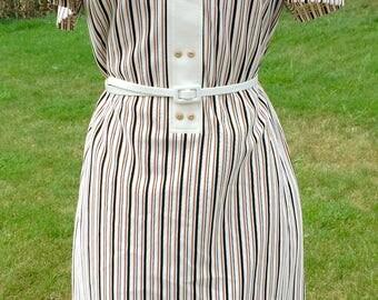 Delightfully striped vintage 1970's dress.