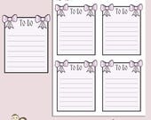 BOW FULL BOXES | Planner Stickers | To Do List | Pink | Bows | Erin Condren | Tn | S146