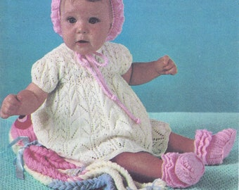 Vintage Knitted Baby Dress Pattern *PDF Instant Download*