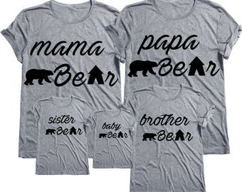 Papa bear shirt,Papa bear t shirt,Papa bear tshirt,Papa Bear Shirt - Family Tee.Bear Family Shirts