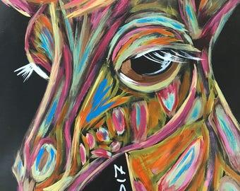 Giraffe Absract