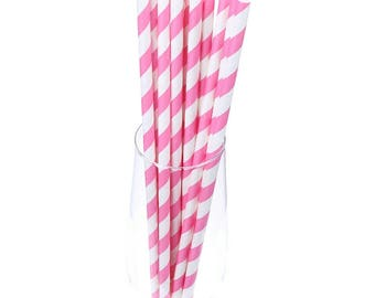 Pink and White Straws| Pink Straws| Party Straws| Cake Pop Straws