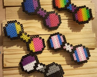 Pride Fuse Bead Hairbow Clips