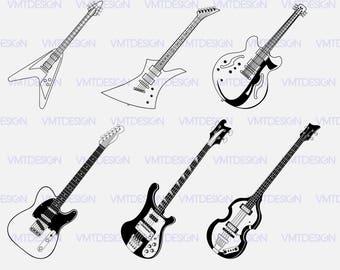 Guitar Svg Vector Clipart Files