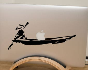Asian Fisherman Decal Sticker for Macbooks and other Laptops, Apple decal sticker macbook idea vinyl retina macbook pro laptops China, mac