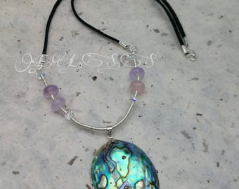 Paua Shell wire work Necklace