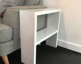 White Gloss Sofa End Table
