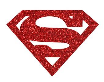 Superman Iron On Glitter Transfer  Superheroes iron on