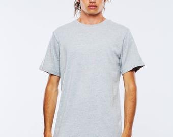 Mens T-shirt Grey Crew Neck By The Twenty Two