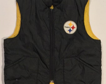 Vintage Circa 1980 Pittsburgh Steelers Vest - Unmarked but probably Size Medium