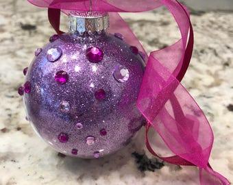 Purple Glitter Ornament