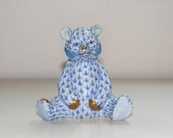 Baby Bear Sitting Herend Figurine
