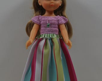 colorful princess dress baby doll