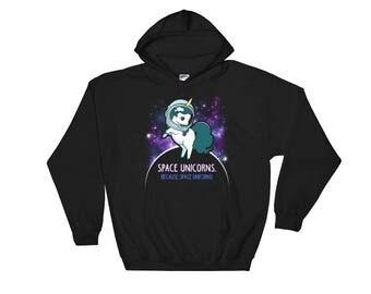 Space Unicorns Hoodie - Unicorn Sweatshirt - Unicorn Gift - Unicorn Hoodies - Funny Unicorn Sweater - Space Unicorn