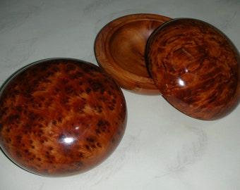 2x Thuya Wood Storage Box  Moroccan