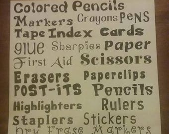 Teacher Supply Labels - Office Supply Labels - School Supply Labels