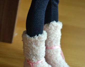Shoes for Minifee BJD fluffy boots