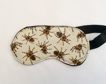 Spider sleep mask, Tarantula mask, Adult sleep mask, Sleep mask, Festival mask, Eye mask,  Men's sleep mask, Women's sleep mask, Horror mask