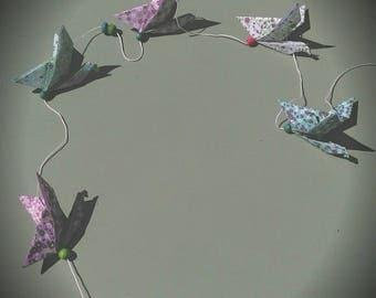Garland origami pesonnalisable birds