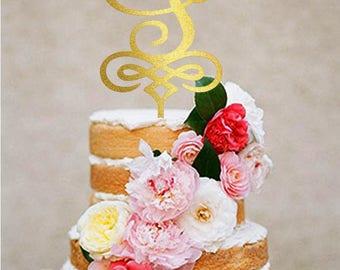 wedding cake topper Letter s cake topper Monogram Custom initial wedding cake toppers gold monogram cake topper silver s cake topper letter