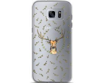 Deer Indie Nature Clear Samsung Case