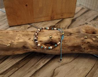 Bracelet ethnic creation inspired creation LB yak bone Nepal