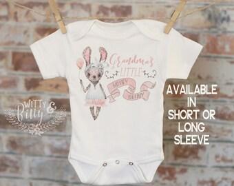Grandma's Little Honey Bunny Onesie®, Grandma Onesie, Grandbaby Gift, Cute Baby Bodysuit, Cute Onesie, Boho Baby Onesie, Funny Onesie - 251G