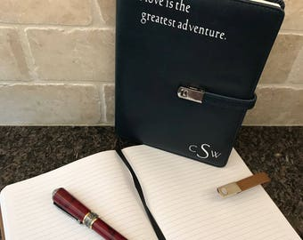 CUSTOM Leatherette Covered Journal with Magnetic Clasp