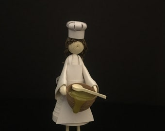 The Cook - 3D Quilling Art
