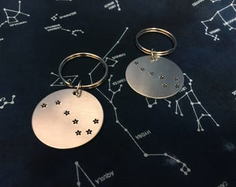 Little and Big Dipper Keychain Set - Little Big Sister Gift Set - Gift for Her - Dad and Son Keychain Gift Set - Gift for Sister