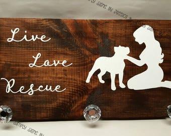 Live Love Rescue Pitbull leash holder