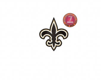 New Orleans Saints  7 Sizes Sport Team Embroidery Design instatnt download machine embroidery pattern