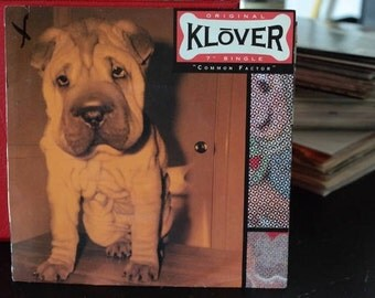Klover- Common Factor/Nothing- 7 inch vinyl Record- Blood Red clear vinyl- Magenta- promo copy