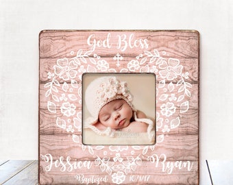 Baptism Gift GIRL Christening Gift GIRL Personalized Picture Frame Baptism Gift for Goddaughter Gift Goddaughter Baptism Gift Christening