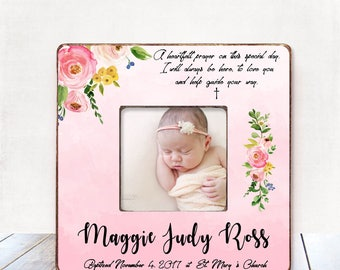 Baptism Gift GIRL Christening Gift GIRL Personalized Picture Frame Baptism Gift for Goddaughter Gift Goddaughter Baptism Gift Christening B1