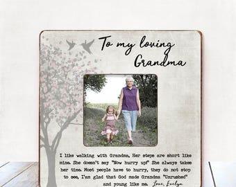 Grandma BIRTHDAY Gift Grandma CHRISTMAS Gift Grandma Mother's Day gift Personalized Picture Frame Grandma Gift from Grandchild Grandmother