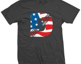 Duramax DirtyMax USA American Flag Colors T-shirt