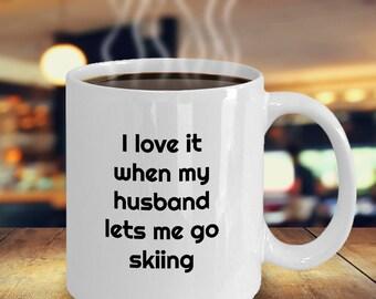 Skiing Coffee Mug -Gift for Wife Who Loves To Ski