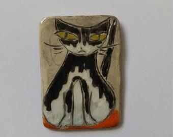 Handpainted cat magnet