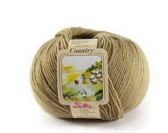 Merino  wool yarn 5 PACK 1000 metres/250g Made in Italy Garn Merinowolle dünn: Sockenwolle-Strärke Haselnussfarbe