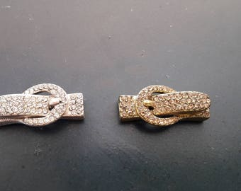 Magnetic clasp buckle with Rhinestones for 5 mm strap