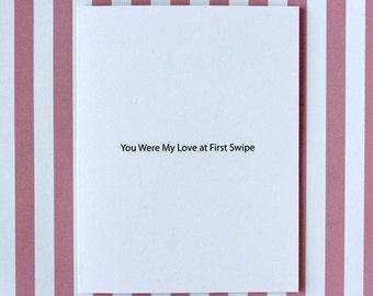 Tinder Valentines Card, Rude Valentines Card, Funny Valentines Card, Meme  Valentines Card,