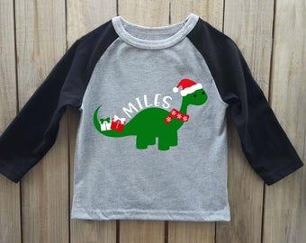 Boys Christmas shirt, dinosaur shirt, Christmas shirt, toddler christmas shirt, christmas onesie, boys christmas onesie, kids christmas